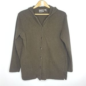 Chili's Design Button up Hoodie Olive Green